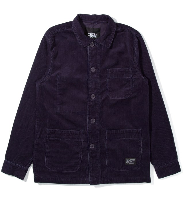 Navy Cord Work Jacket