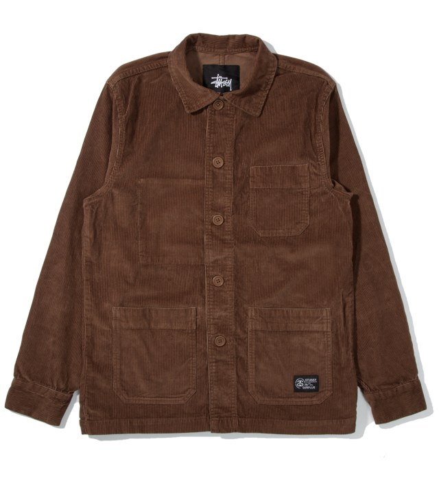 Brown Cord Work Jacket