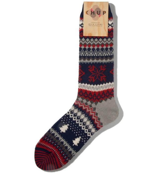 Navy Qanik Socks