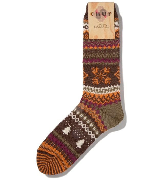 Brown Qanik Socks