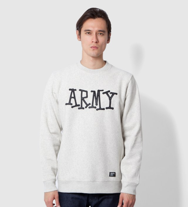 Heather Grey Army Crew Sweater