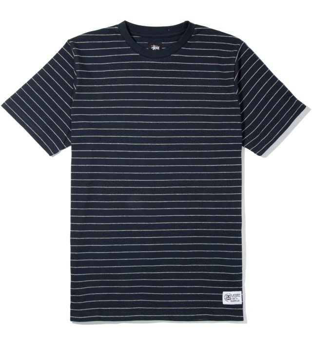Heather Grey Navy Stripes T-Shirt