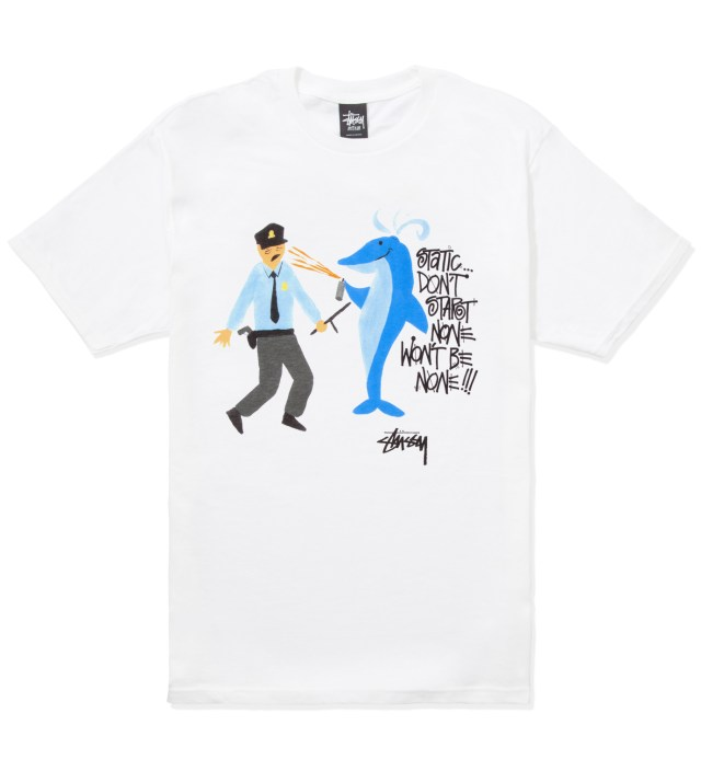 White Dolphin Static T-Shirt