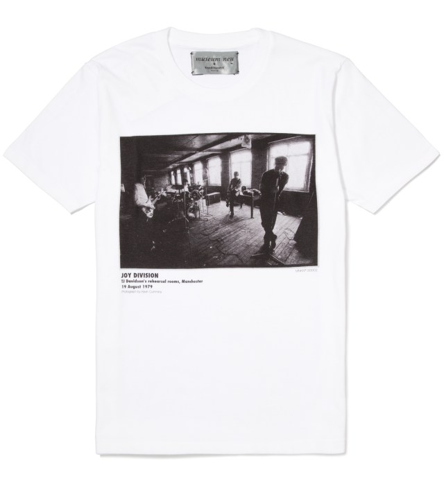 museum neu x Kazuki Kuraishi White Joy Division T-Shirt