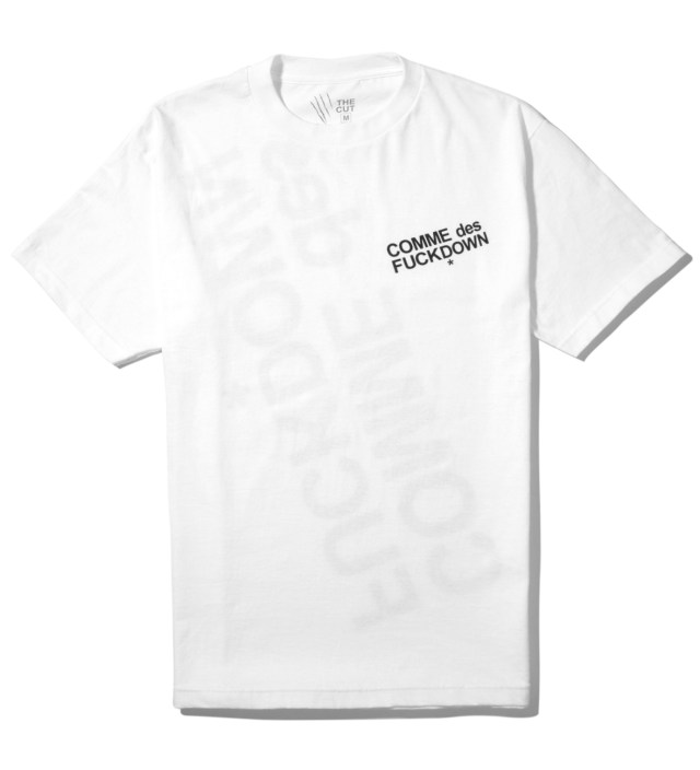 White Comme des Fuckdown T-Shirt