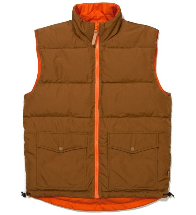 Brown/Orange Westridge Reversible Down Vest