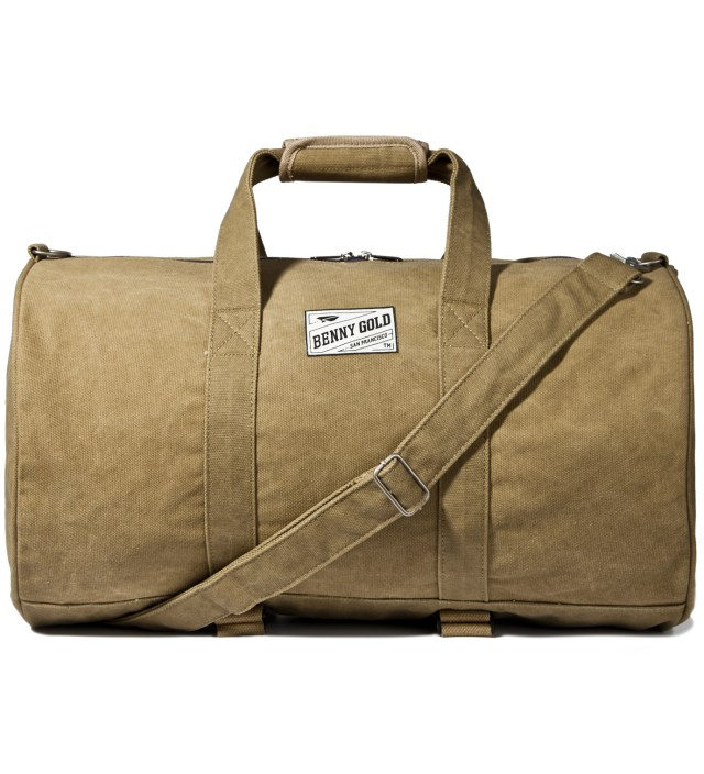 Tan Large Canvas Duffle Bag