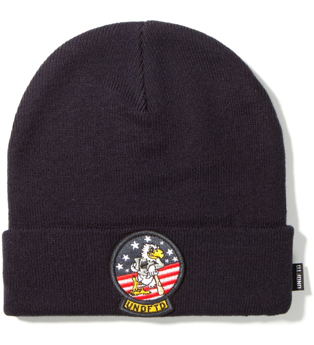 Navy Tomcat Cuff Beanie
