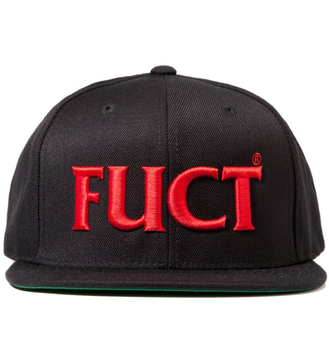 Black/Red FUCT Wars Logo Snapback Cap