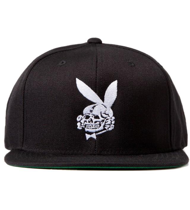 Black Death Bunny Snapback Cap