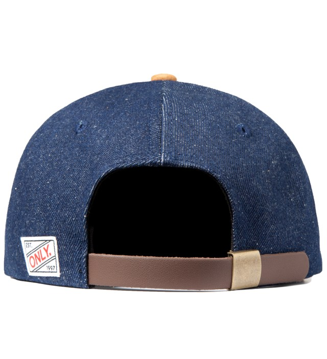 Raw Denim/Suede Denim Polo Hat