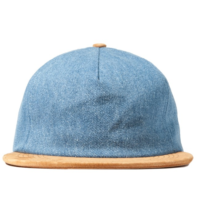 Light Denim/Suede Denim Polo Hat