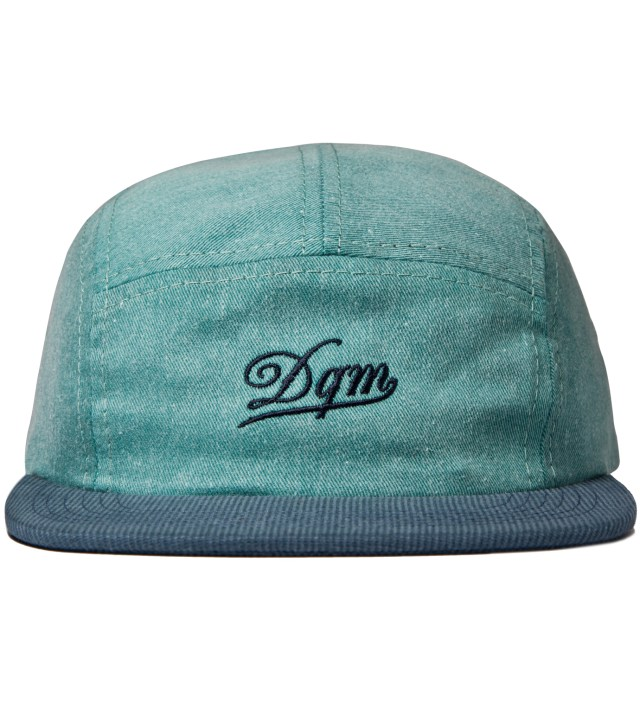 Jade/Navy Tulsa Disressed Twill Camp Cap