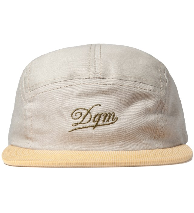 Khaki/Yellow Tulsa Disressed Twill Camp Cap