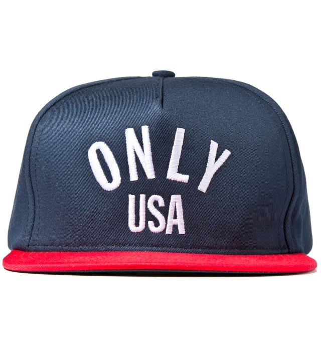 Navy/Red ONLY USA Snapback Cap