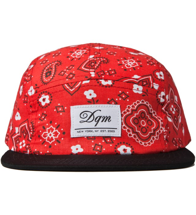 Red Bayou Bandana Print 5-Panel Camp Cap
