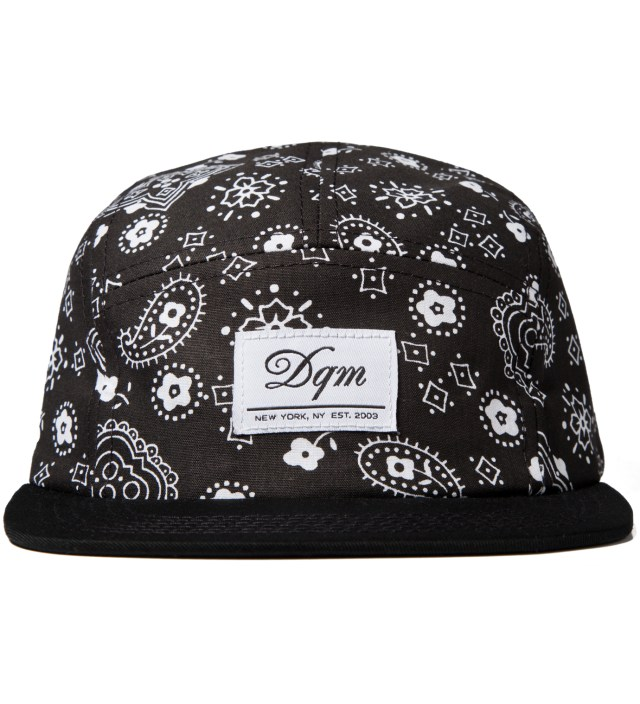 Black Bayou Bandana Print 5-Panel Camp Cap