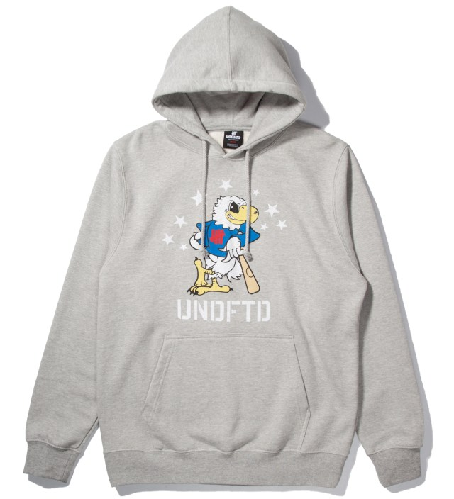 Heather Grey Eagle Undefeated Hoodie