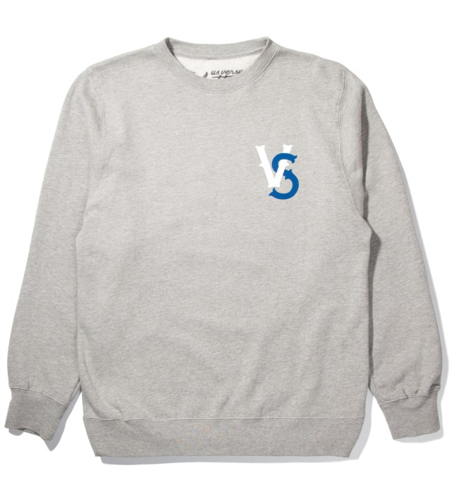 Heather Grey Pennant Race Crewneck