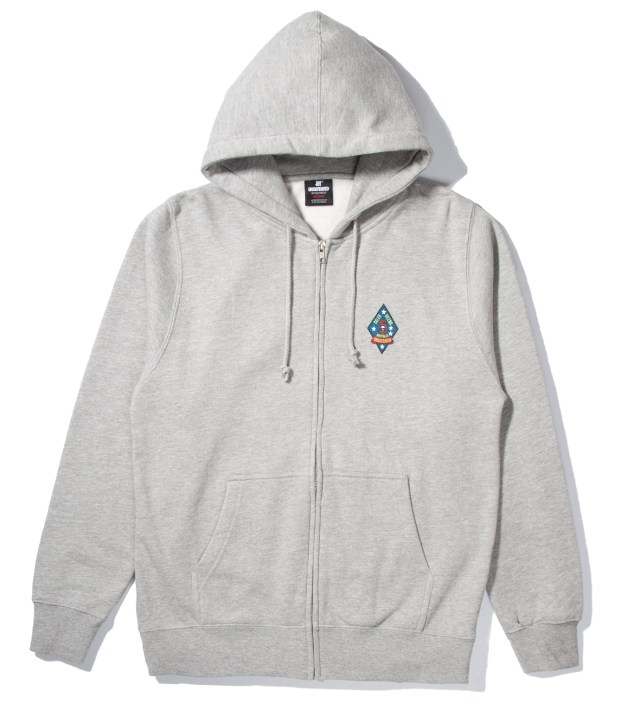 Heather Grey UND Script Zip Hoodie