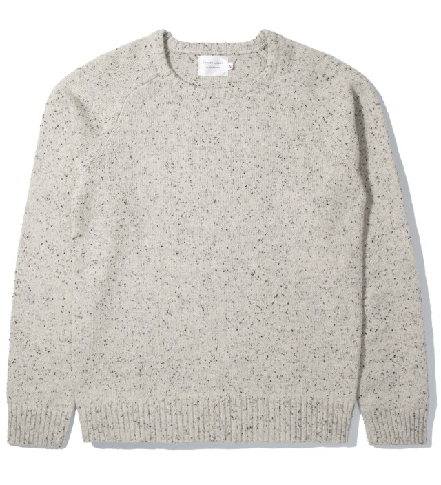 Winter White Marled Crewneck Sweater