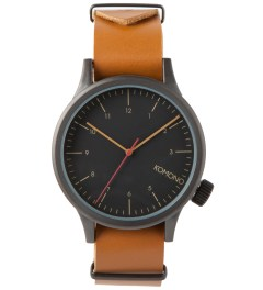 KOMONO Black Cognac Magnus Watch Picutre