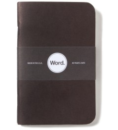 Word. Black 3 Pack Notebook Picutre