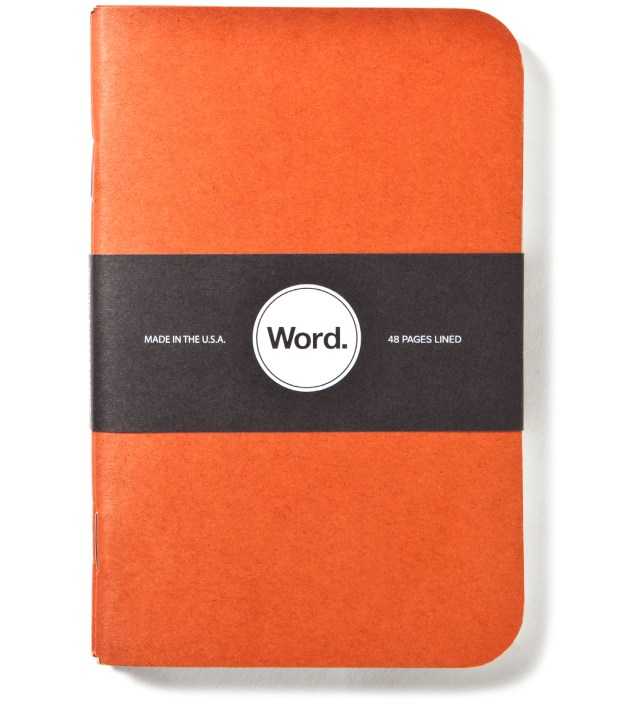 Orange Camo 3 Pack Notebook