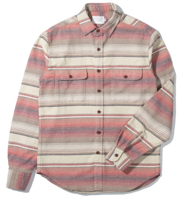 Desert Stripe 2 Pocket Overshirt
