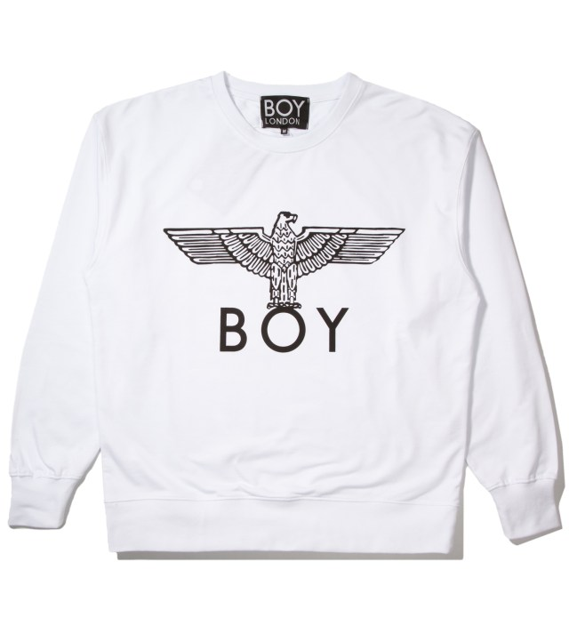 White/Black Boy Eagle Sweater