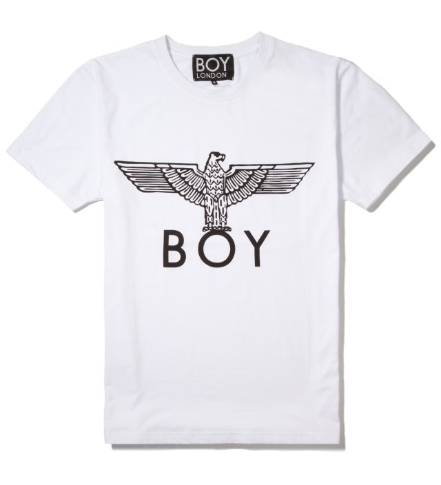 White/Black Boy Eagle T-Shirt