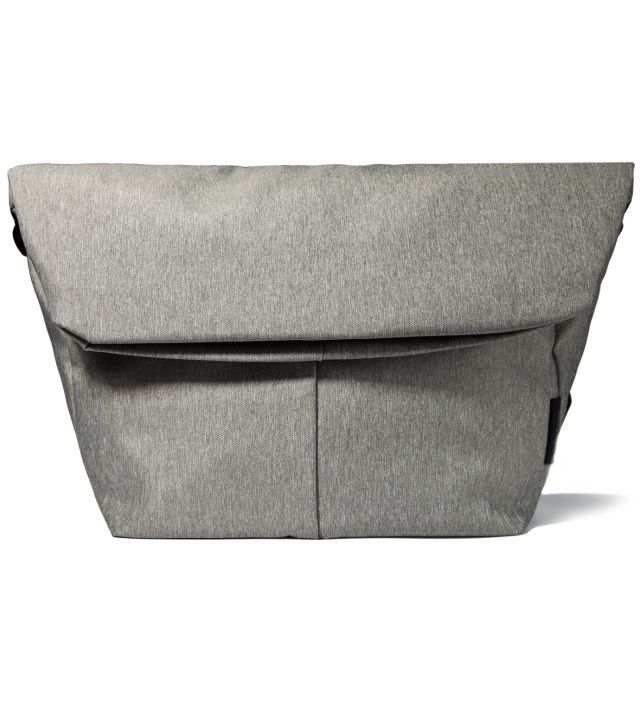 "Grey Melange 15"" Laptop Messenger Bag"