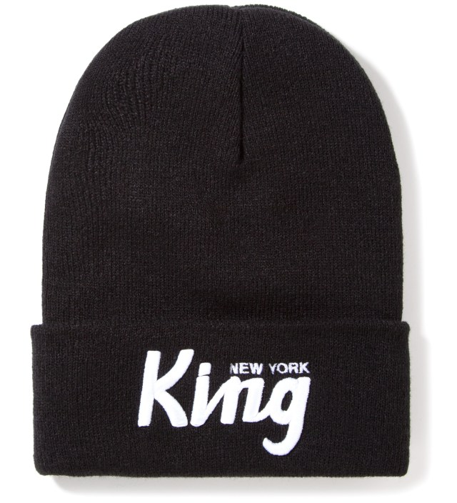 Black New York King Beanie