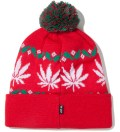 Red Nordic Leaves Beanie