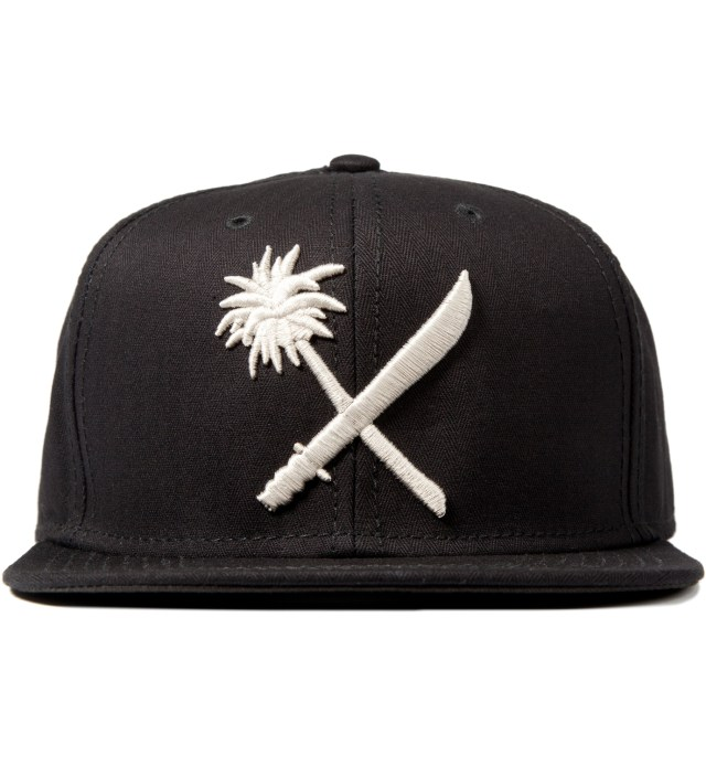 Black Crosscut Herringbone Snapback