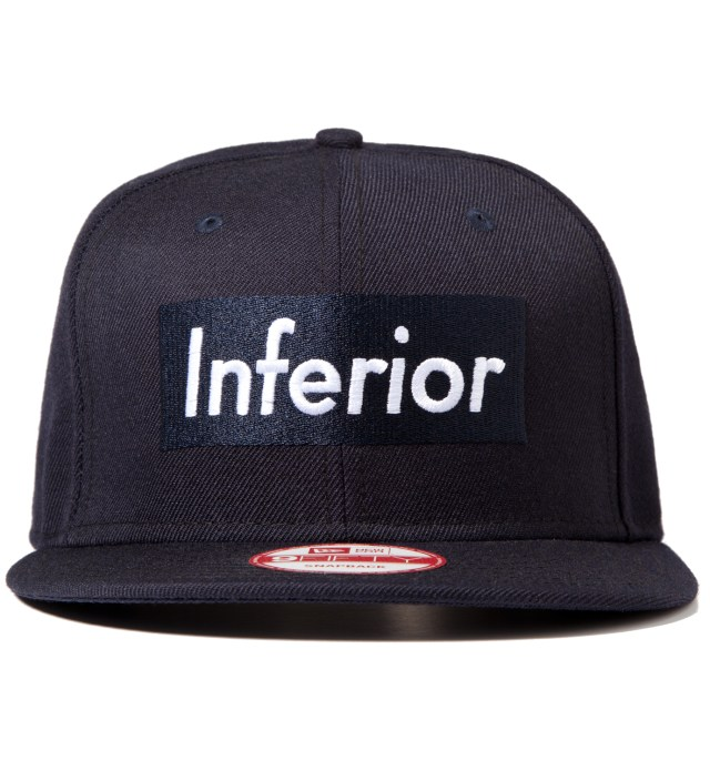 Mark McNairy for Heather Grey Wall Navy New Era Inferior Snapback Cap