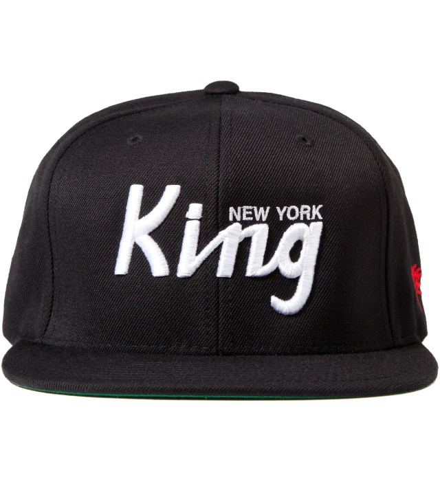 Black New York King Snapback Cap