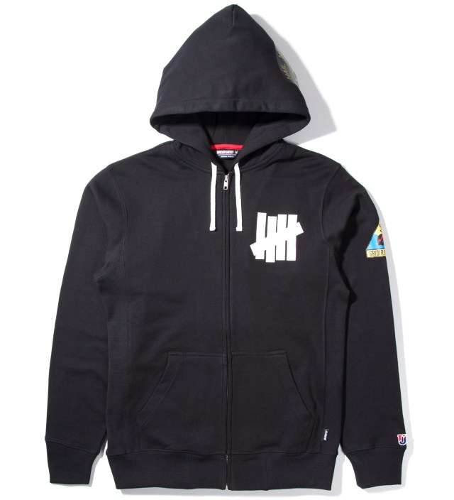 Black Hail Mary Zip Hoodie