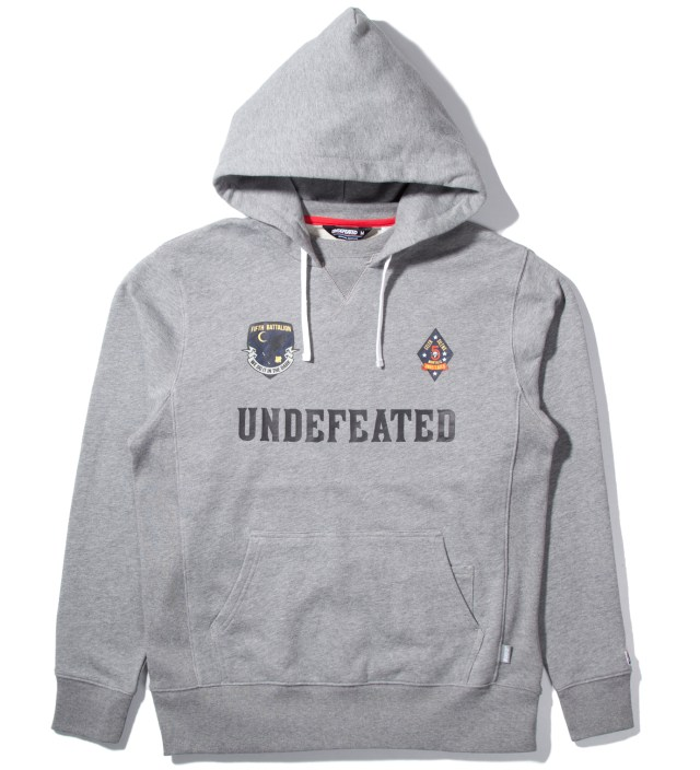 Heather Grey Battalion Crew Pullover Hoodie