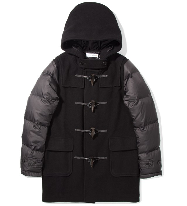 Black Down Duffle Coat