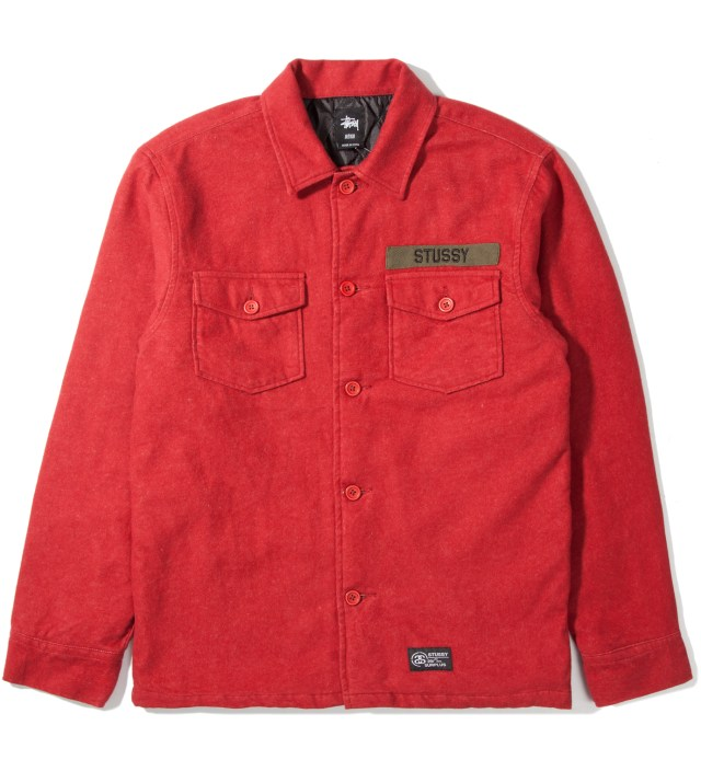 Brick Red Flannel Troops Shirt