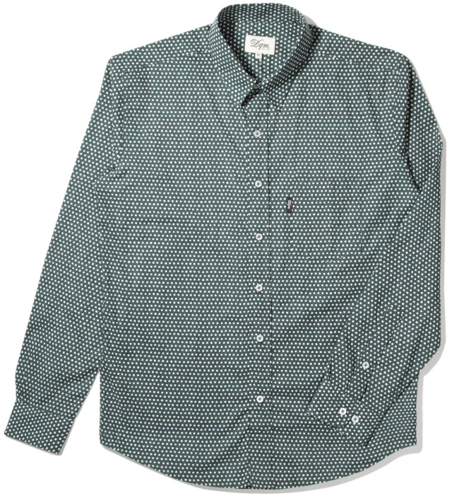 Teal Uneven Dots Cinema Shirt