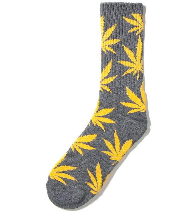 Charcoal/Yellow Plantlife Crew Socks