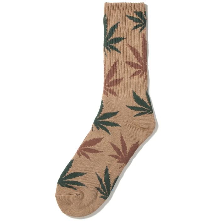 Tobacco/Green Plantlife Crew Socks