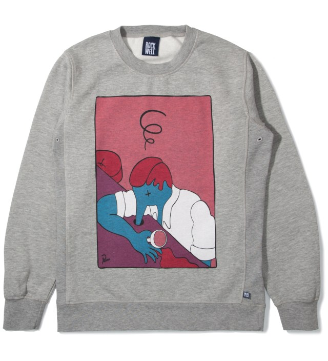 Heather Grey The Lux Crewneck