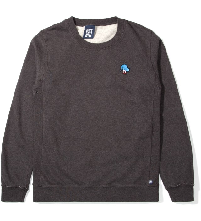 Black Heather Sad Bird Crewneck