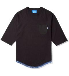 Tantum Black Tonal Hem Trim Blue Bandana Raglan  Picutre