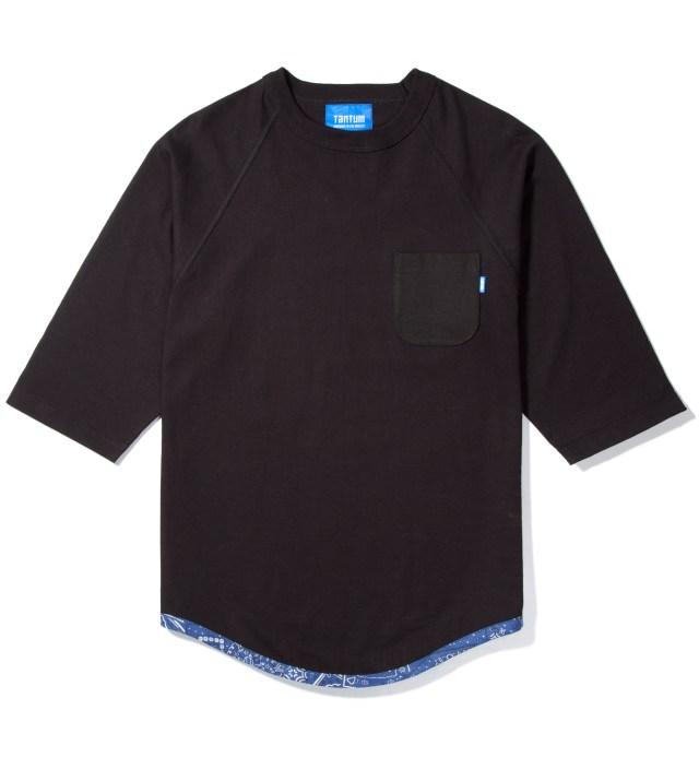 Black Tonal Hem Trim Blue Bandana Raglan