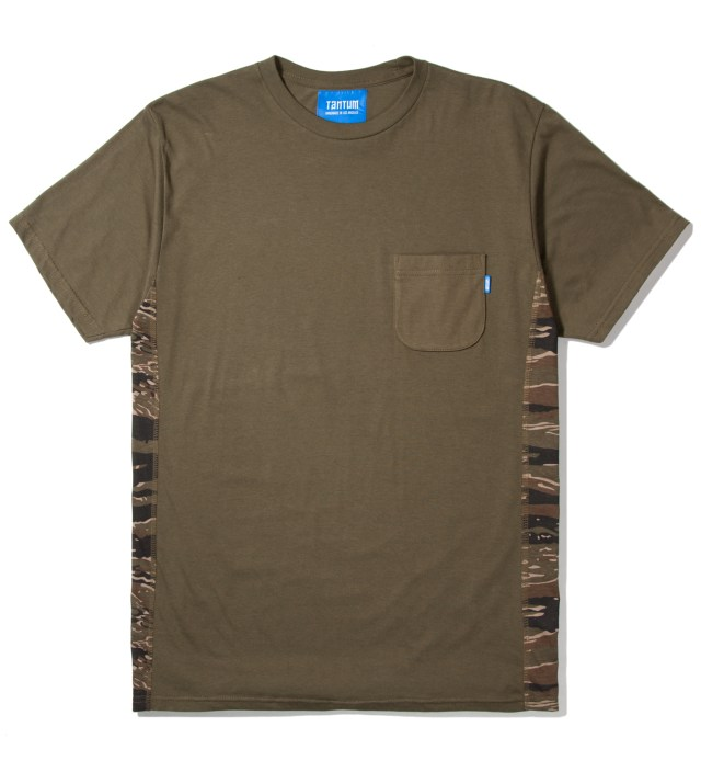 Olive Side Panel Tiger Stripe Camo T-Shirt