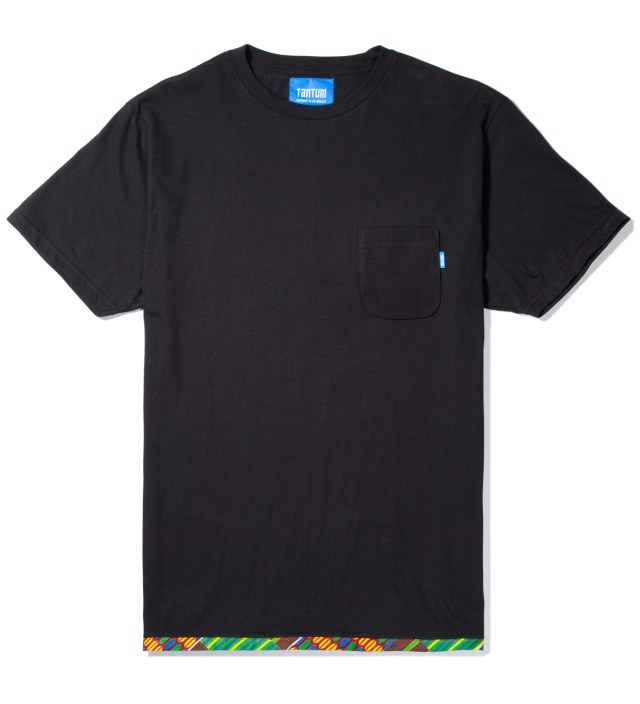 Black Hem Trim African Waxed T-Shirt